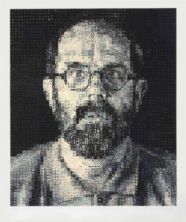 Serigrafía Close - Self Portrait by Chuck Close