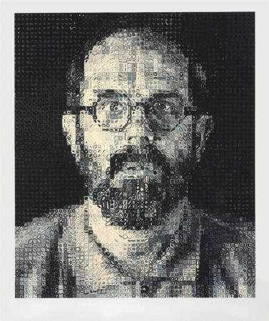 Serigrafía Close - Self Portrait by Chuck Close