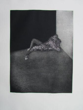 Grabado Scholder - Self Portrait In Barcelona