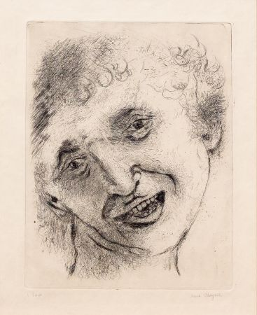 Grabado Chagall - Self Portrait with a Laughing Expression