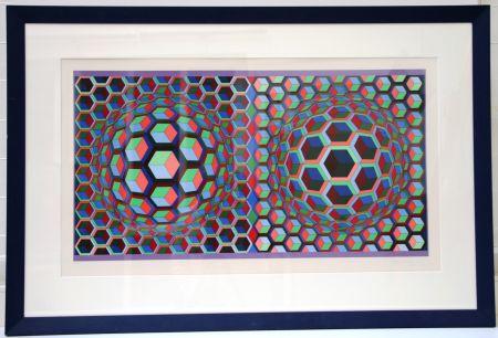 Litografía Vasarely - Semiha