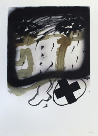 Litografía Tapies - Senanque I