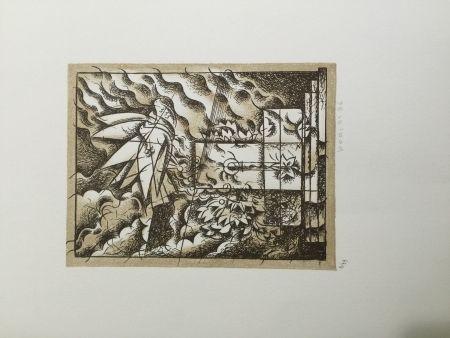 Litografía Bodini - Sensa titolo