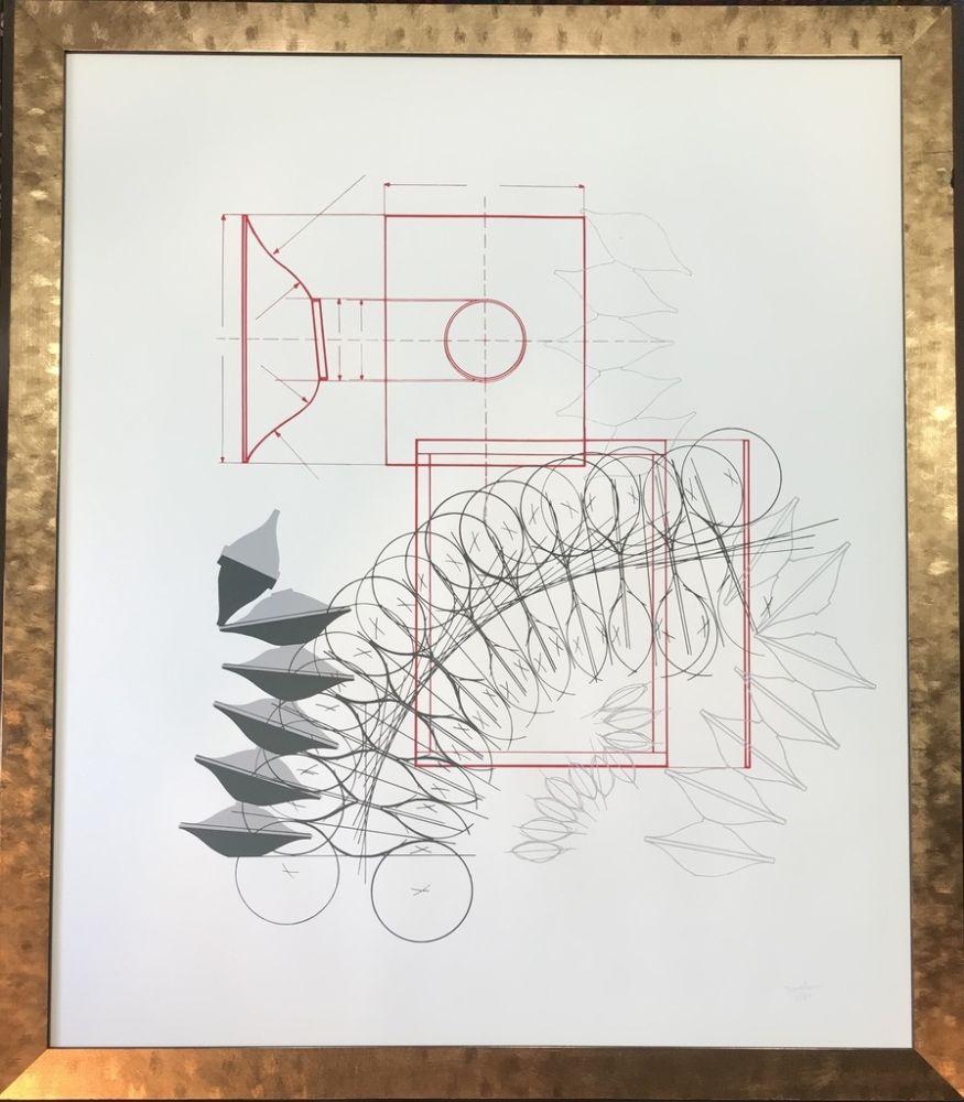 Litografía Bonalumi - Senza titolo