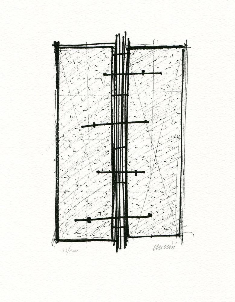 Litografía Uncini - Senza titolo