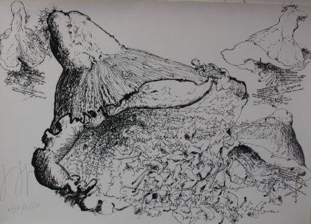 Litografía Grass - Senza titolo
