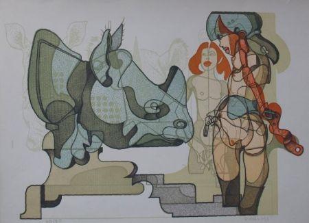 Litografía Bodini - Senza titolo
