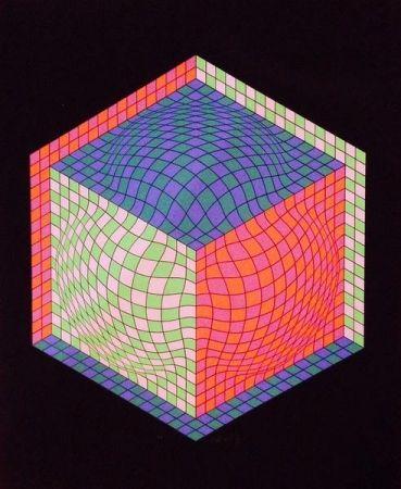 Litografía Vasarely - Senza titolo