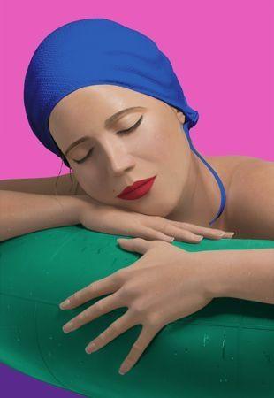 Serigrafía Feuerman - Serena with blue cap