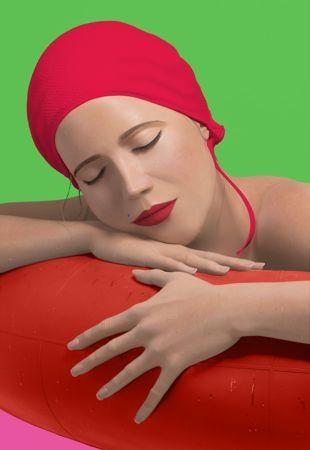 Serigrafía Feuerman - Serena with red cap