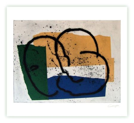 Grabado Canogar - Serie constructivista n-7-90