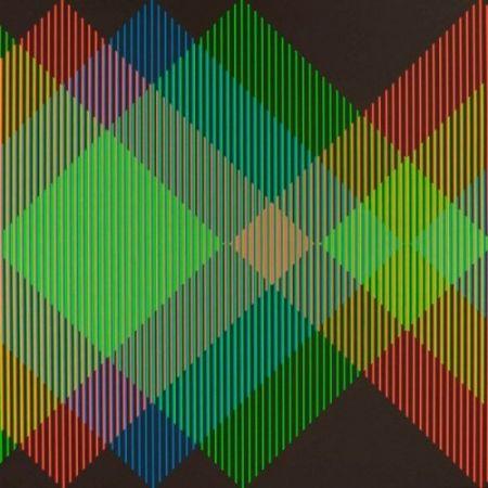 Litografía Cruz-Diez - Serie Semana - Miércoles