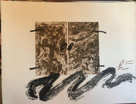 Aguafuerte Tàpies - Serp