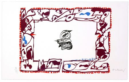 Litografía Alechinsky - Set de Table