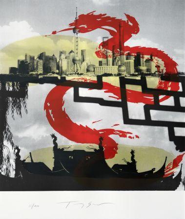 Litografía Soulie - Shanghai le Dragon