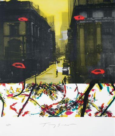 Litografía Soulie - Shanghai rue de la Soie