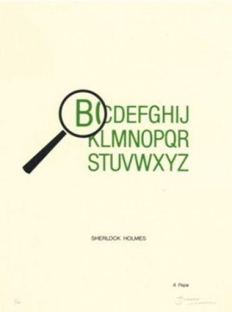Litografía Brossa - Sherlock Holmes