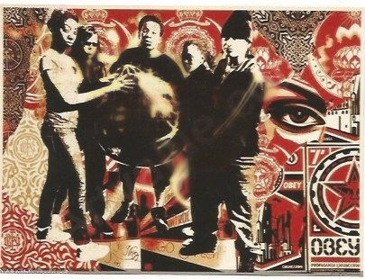 Serigrafía Fairey - She's not a Planet, She is One of Us