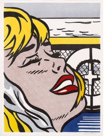 Litografía Lichtenstein - Shipboard Girl (Corlett II. 6)