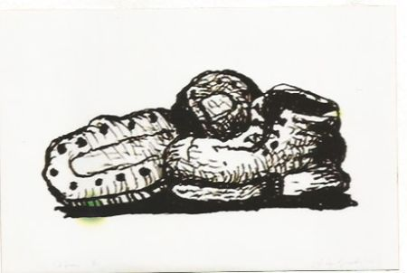 Litografía Guston - Shoes