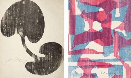 Grabado En Madera Arp - Siamesisches Blatt : ONZE PEINTRES VUS PAR ARP. 1949. Deluxe.