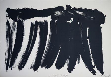 Litografía Debré - Signe paysage 1986