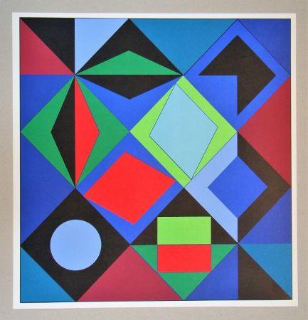 Serigrafía Vasarely - Sikra - 1966