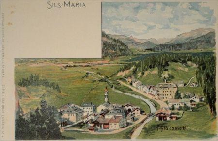 Litografía Giacometti - Sils-Maria