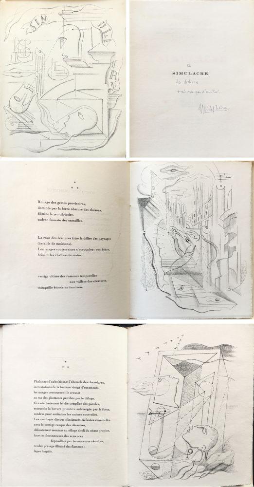 Libro Ilustrado Masson - SIMULACRE. 7 lithographies originales. Dédicacé (1925)