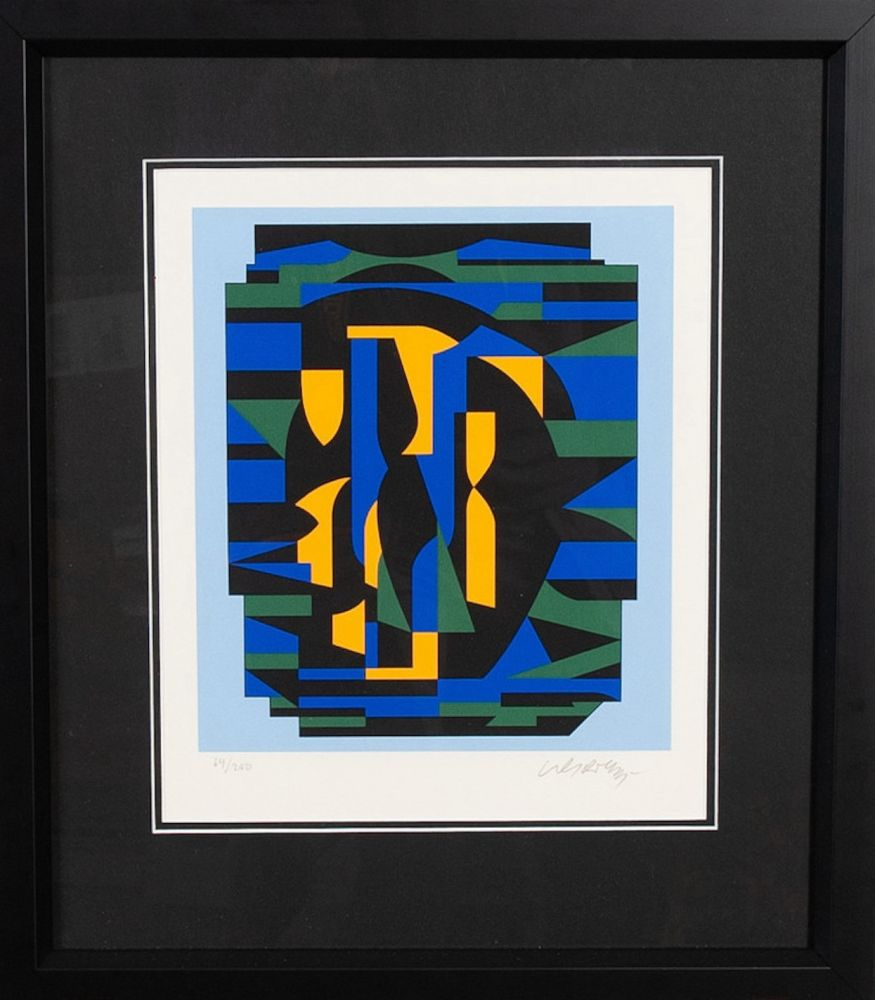 Serigrafía Vasarely - Sin titulo