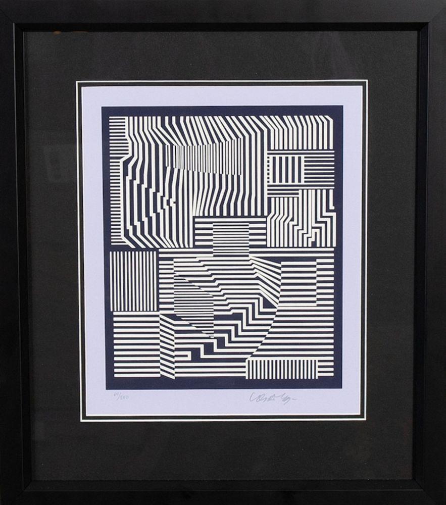 Serigrafía Vasarely - Sin titulo I