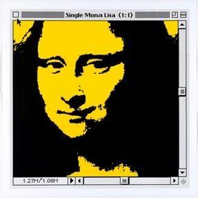 Litografía Pusenkoff - Single Mona Lisa yellow for Barcelona