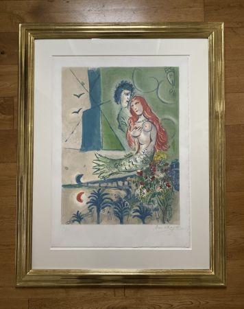 Litografía Chagall (After) -  Sirène au Poète