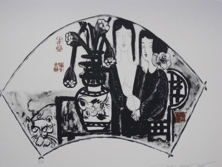 Litografía Tongzhengang - Sisters