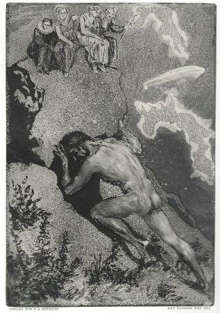 Aguafuerte Y Aguatinta Klinger - Sisyphus / Die Fakultäten
