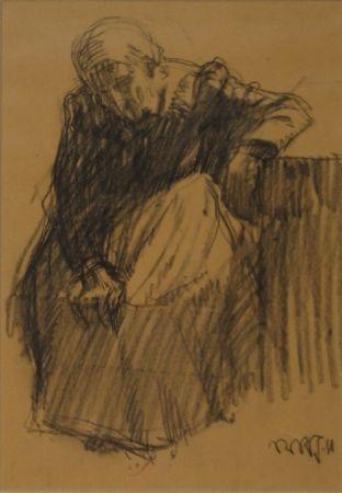 Monotipo Junghanns - Sitzende alte Frau