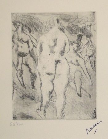 Punta Seca Pascin - Six Femmes nues
