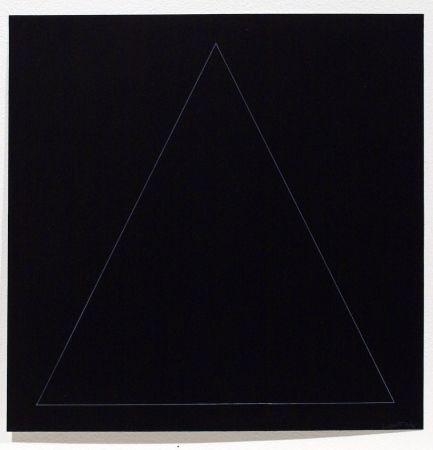 Aguafuerte Y Aguatinta Lewitt - Six Geometric Figures - Triangle