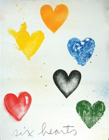 Litografía Dine - SIX HEARTS