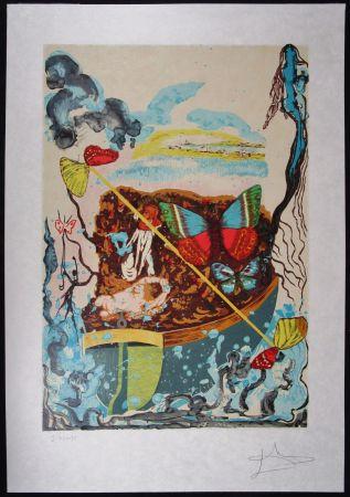 Litografía Dali - Six Of Swords