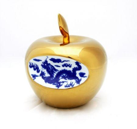 Cerámica Lihong - Small Apple – gold