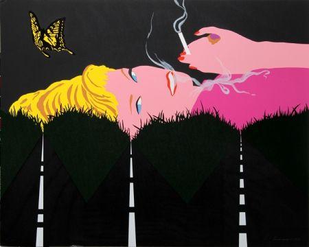 Serigrafía D'arcangelo - Smoking Blonde