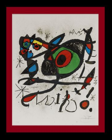 Litografía Miró - Sobreteixims