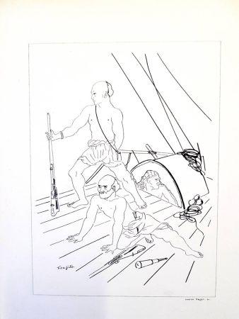 Litografía Foujita - Soldat
