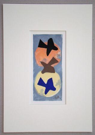 Litografía Braque (After) - Soleil et Lune I.