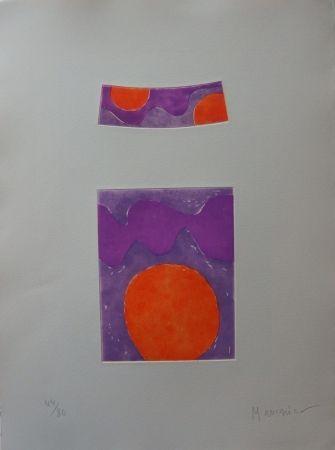 Aguafuerte Y Aguatinta Manessier - Soleils oranges