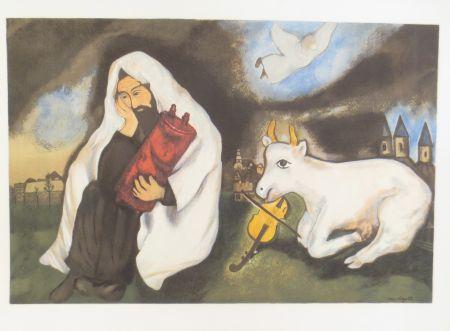 Litografía Chagall -  solitude