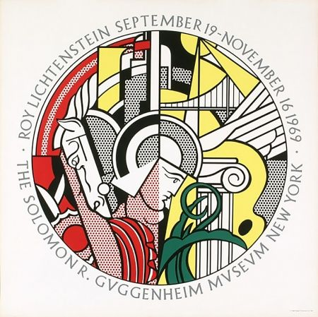 Serigrafía Lichtenstein - Solomon R. Guggenheim Museum, New York