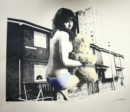 Serigrafía Hardacre - Some Teddy Bears Have All the Luck