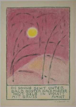 Litografía Amiet - Sonnenuntergang
